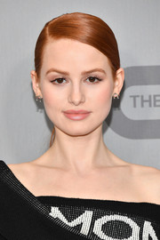 Madelaine Petsch wore her hair in a sleek ponytail at the 2018 CW Network Upfront.