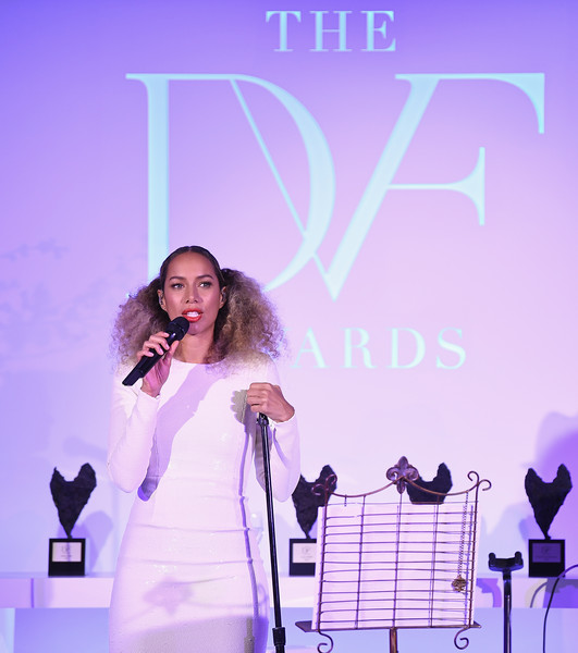 More Pics of Leona Lewis Evening Sandals (1 of 10) - Leona Lewis Lookbook - StyleBistro [performance,purple,violet,singer,event,stage,performing arts,talent show,song,singing,leona lewis,new york city,united nations,dvf awards]