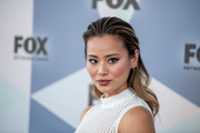 Jamie Chung rocked gelled-back waves at the 2018 Fox Network Upfront.