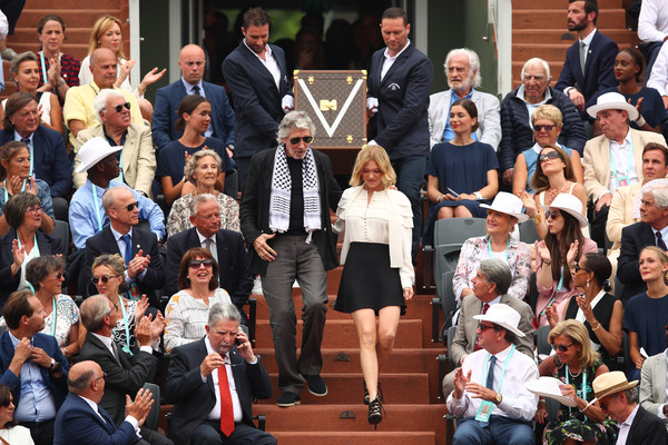 More Pics of Lea Seydoux Mini Skirt (1 of 11) - Lea Seydoux Lookbook - StyleBistro [people,event,audience,crowd,performance,acrtess,lea seydoux,rafael nadal,dominic thiem,cup,french,spain,musketeers,french open,mens]