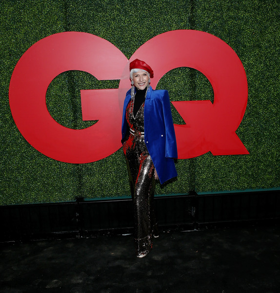 More Pics of Maye Musk Printed Belt (1 of 4) - Belts Lookbook - StyleBistro [red,pink,green,snapshot,smile,fun,electric blue,world,space,magenta,arrivals,maye musk,beverly hills,california,benedict estate,gq men of the year party]