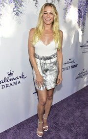 LeAnn Rimes flaunted her cleavage in a low-cut camisole at the 2018 Hallmark Channel Summer TCA event.