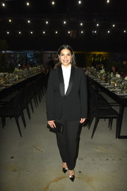 America Ferrera went for playful styling with a pair of polka-dot pumps by Malone Souliers.