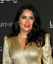 Salma Hayek wore her hair down in luxuriant waves at the 2018 LACMA Art + Film Gala.