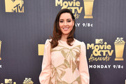 Aubrey Plaza Embroidered Dress