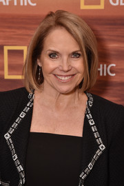 Katie Couric attended the 2018 National Geographic Upfront wearing her trademark bob.