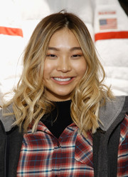 Chloe Kim looked sweet with her wavy 'do at the 2018 Olympic U.S. Snowboard Team Uniform Unveil.
