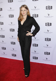 Amy Adams kept it simple yet smart in a black wrap jumpsuit at the 2018 SFFILM Awards.