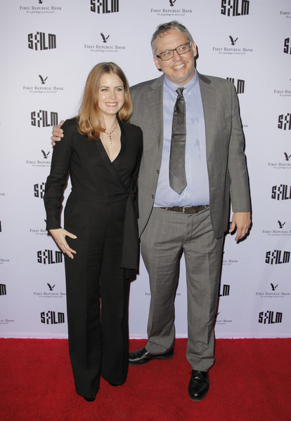 More Pics of Amy Adams Jumpsuit (3 of 20) - Suits Lookbook - StyleBistro [suit,carpet,red carpet,formal wear,event,premiere,tuxedo,pantsuit,white-collar worker,flooring,sffilm awards,palace of fine arts theater,san francisco,california,amy adams,adam mckay]