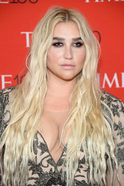 Kesha sported her signature center-parted waves at the 2018 Time 100 Gala.