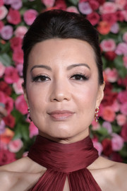 Ming-Na Wen styled her hair into a simple pompadour for the 2018 Tony Awards.