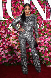 Tiffany Haddish was all about cool glamour in her silver Michael Kors jumpsuit at the 2018 Tony Awards.
