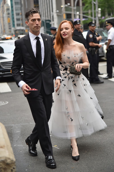More Pics of Lauren Ambrose Strapless Dress (1 of 14) - Lauren Ambrose Lookbook - StyleBistro [red carpet,suit,clothing,dress,formal wear,fashion,tuxedo,shoulder,event,haute couture,gown,lauren ambrose,r,tony awards,new york city,radio city music hall,annual tony awards]