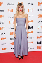 Sofia Boutella went for simple elegance in a strapless lilac gown by Dior at the TIFF premiere of 'Climax.'