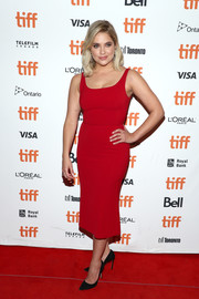 Ashley Benson donned a simple red tank dress by Dolce & Gabbana for the TIFF premiere of 'Her Smell.'