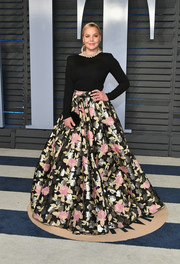 Abbie Cornish added major verve with a full floral maxi skirt, also by Christian Siriano.