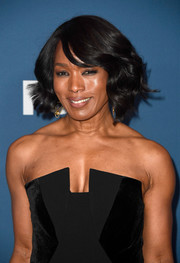 Angela Bassett styled her hair into a sweet curly bob for the Fox All-Star Party.