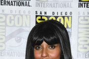 Jameela Jamil Long Straight Cut with Bangs