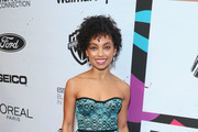 Logan Browning Strapless Dress