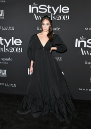 Alycia Debnam-Carey was goth-glam in a long-sleeve black ballgown at the 2019 InStyle Awards.