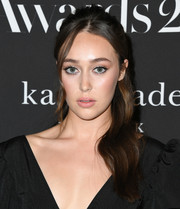 Alycia Debnam-Carey looked sweet with her half-up waves at the 2019 InStyle Awards.