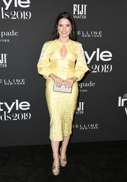 Sophia Bush turned heads in a yellow keyhole-cutout dress by Markarian at the 2019 InStyle Awards.