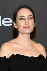 Zoe Lister Jones opted for a short bob when she attended the 2019 InStyle and Warner Bros. Golden Globes after-party.