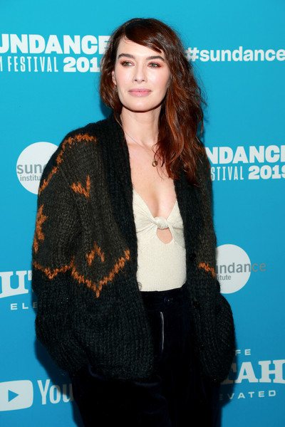 More Pics of Lena Headey Leather Sneakers (1 of 7) - Athletic Shoes Lookbook - StyleBistro [surprise screening of ``fighting with my family,premiere,outerwear,magazine,electric blue,black hair,long hair,lena headey,utah,park city,the ray,sundance film festival]