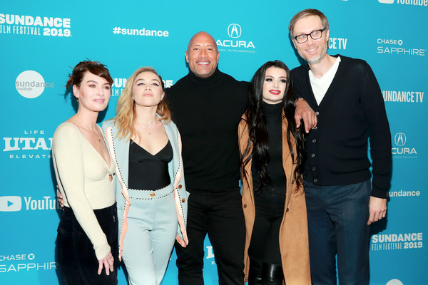 More Pics of Florence Pugh Pumps (5 of 8) - Heels Lookbook - StyleBistro [surprise screening of ``fighting with my family,event,premiere,carpet,stephen merchant,paige,dwayne johnson,lena headey,florence pugh,l-r,the ray,utah,sundance film festival]