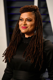 Ava DuVernay sported her usual dreadlocks at the 2019 Vanity Fair Oscar party.