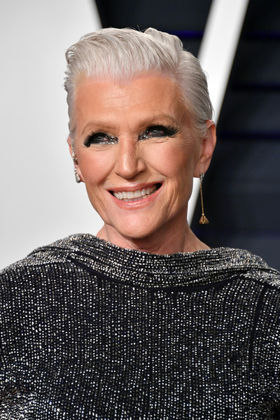 Maye Musk attended the 2019 Vanity Fair Oscar party rocking a silver fauxhawk.