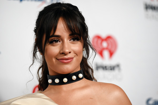 Camila Cabello attended the 2019 iHeartRadio Music Festival wearing a leather and pearl choker by Lillian Shalom.