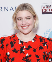 Greta Gerwig sported a casual bob at the 2020 Athena Film Festival awards ceremony.