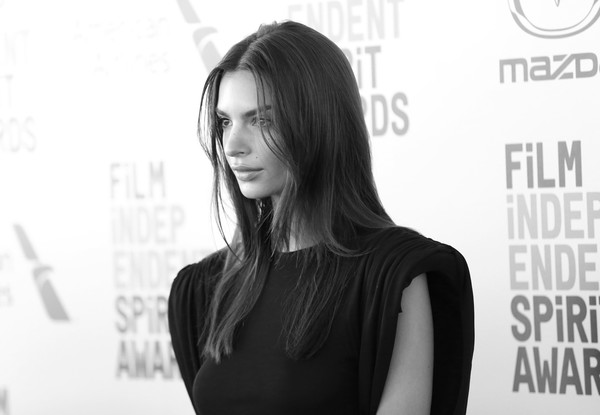 More Pics of Emily Ratajkowski Shoulder Pad Dress (1 of 16) - Emily Ratajkowski Lookbook - StyleBistro [image,hair,face,shoulder,hairstyle,beauty,black-and-white,fashion,model,black hair,long hair,arrivals,emily ratajkowski,film independent spirit awards,santa monica,california,fashion,hair m,hair coloring,supermodel,hair,model,photo shoot,socialite,long hair,color]