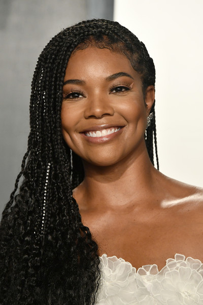 More Pics of Gabrielle Union Evening Sandals (4 of 11) - Gabrielle Union Lookbook - StyleBistro [hair,eyebrow,hairstyle,black hair,lip,beauty,forehead,skin,long hair,jheri curl,gabrielle union,radhika jones - arrivals,hair,hair,hairstyle,history,wallis annenberg center for the performing arts,oscar party,vanity fair,party,gabrielle union,oscar party,vanity fair,celebrity,wallis annenberg center for the performing arts,party,92nd academy awards,history,photograph,livingly media]