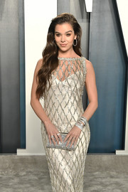 Hailee Steinfeld matched some diamond rings with a beaded gown for the 2020 Vanity Fair Oscar party.
