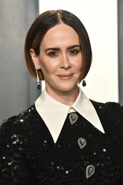 Sarah Paulson opted for a simple bob when she attended the 2020 Vanity Fair Oscar party.