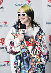 Billie Eilish's diamond rings added a glam touch to her casual look at the 2020 iHeartRadio ALTer EGO event.