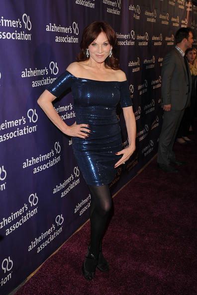 More Pics of Marilu Henner Off-the-Shoulder Dress (1 of 6) - Marilu Henner Lookbook - StyleBistro