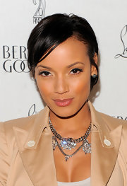 Selita Ebanks wore her short cut with sleek side-swept bangs at the 20th anniversary celebration for Christian Louboutin.