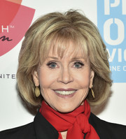 Jane Fonda attended the 20th anniversary of V-Day wearing her signature bob with feathery bangs.