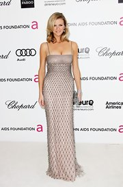Brooklyn Decker was a shining star in a beaded column dress.