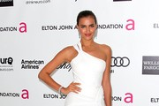 Model Irina Shayk arrives at the 20th Annual Elton John AIDS Foundation's Oscar Viewing Party held at West Hollywood Park on February 26, 2012 in West Hollywood, California.