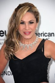 Adrienne Maloof oozed Old Hollywood glamour with this side-swept curly 'do at the Elton John Oscar party.