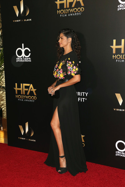 More Pics of Camila Alves Gemstone Studs (4 of 11) - Gemstone Studs Lookbook - StyleBistro [camila alves,red carpet,carpet,premiere,flooring,dress,event,hollywood film awards - arrivals,20th annual hollywood film awards,beverly hills,california]