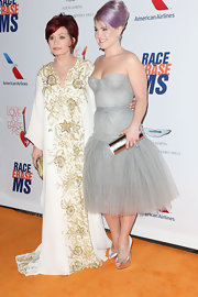 Sharon Osbourne look great wearing an embroidered floor-length dress at the Race to Erase MS Gala.