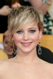 Jennifer Lawrence sported a punk-chic 'do at the SAG Awards.