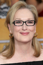 Meryl Streep styled her locks into a pretty half-up half-down 'do for the SAG Awards.