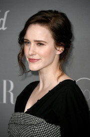 Rachel Brosnahan sported a messy yet romantic updo at the Costume Designers Guild Awards.