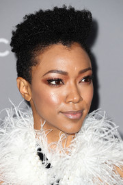 Sonequa Martin-Green went ultra edgy with this fauxhawk at the Costume Designers Guild Awards.